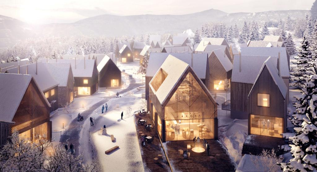 Projekt konkursowy- Koncepcja Active Village autorstwa WXCA