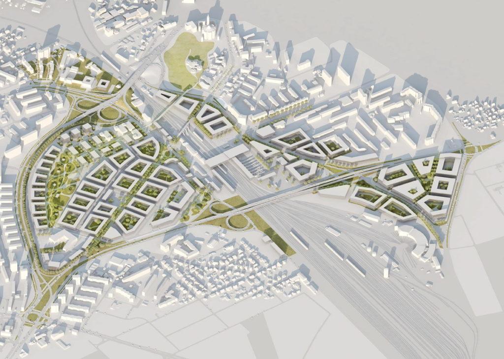 Aksonometria koncepcji przestrzennej
