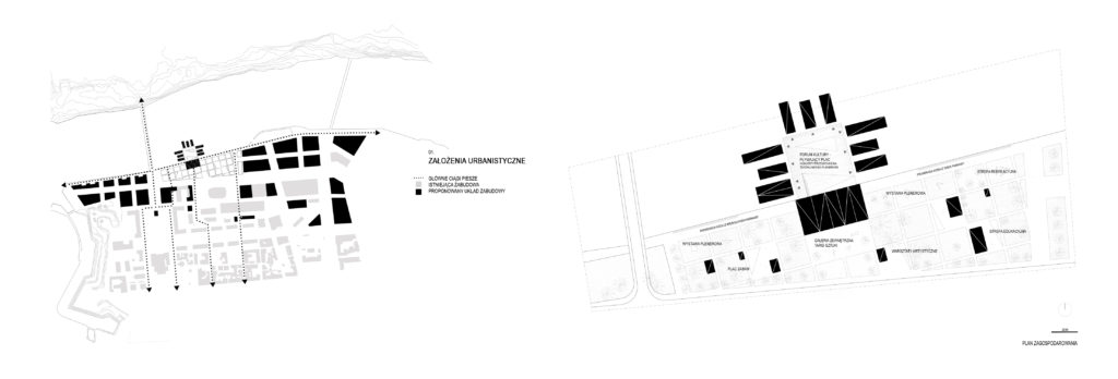 Schemat- rozwiązania urbanistyczne
